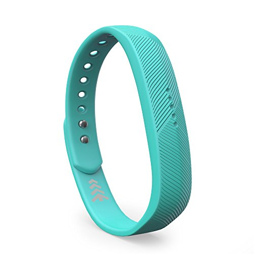 Teak - Silicone Sport Replacement Band for Fitbit Flex 2 - Small, Teal (Burch Leopard Print)