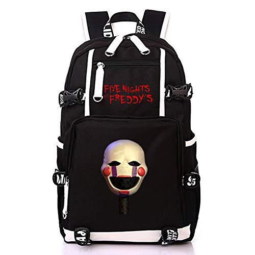 HPY Cosplay Five Nights at Freddy's Backpack School Bag Travel Bag Pc Bag Resident College Bag men's ladies' bag,B]()