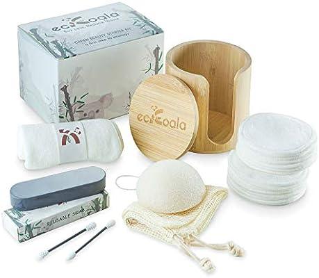 ecKoala® Set Desmaquillante – 16 Discos Desmaquillantes Lavables + ...