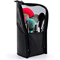 Tutyuity - Bolsa para Pinceles de Maquillaje, Color Negro, Bolsa organizadora al vacío, práctica Malla, maletín de…