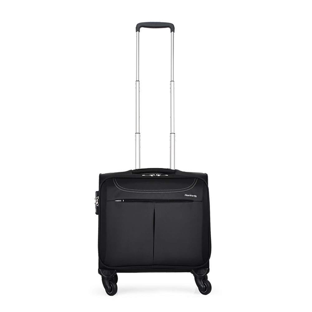 男性用ビジネストラベルスーツケース、女性用軽量スーツケース、防水オックスフォードトロリースーツケース、TASロック、360°ローリングホイール,16inch B07VK7R5DN  16inch