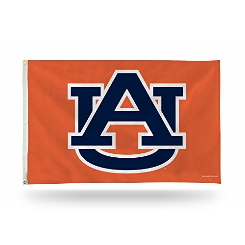 Rico Industries NCAA Auburn Tigers 3-Foot by 5-Foot Single Sided Banner Flag with Grommets ()