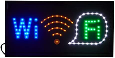 LED Neon WIFI Sign for Business Displays, LED Light Display