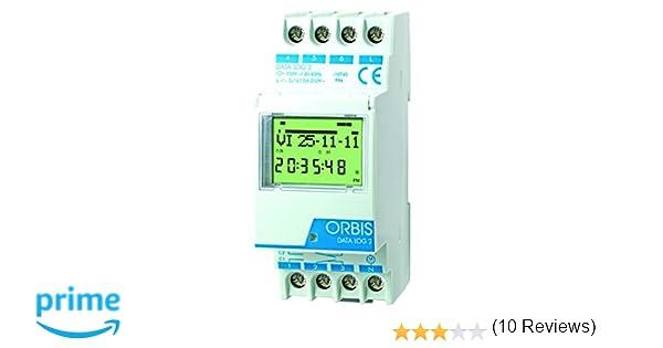 Orbis Data Log OB174012 - Interruptor horario digital de distribuidor, 230 V: Amazon.es: Bricolaje y herramientas
