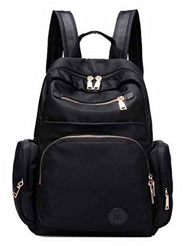 AgooLar dos à Femme GMBBB180699 portable à dos Sacs Sacs Daypack ordinateur Noir pour Nylon nBCRxgrn