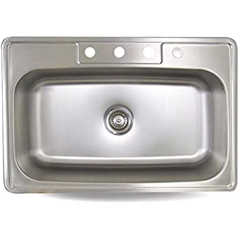 Sink smart 968 4 33 inch single bowl drop in stainless steel sink smart 968 4 33 inch single bowl drop in stainless workwithnaturefo