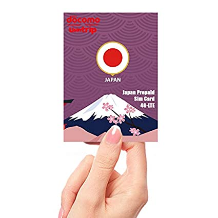 Amazon.com: Docomo Japan Prepaid Sim Card 7 Day 4GB Data and ...