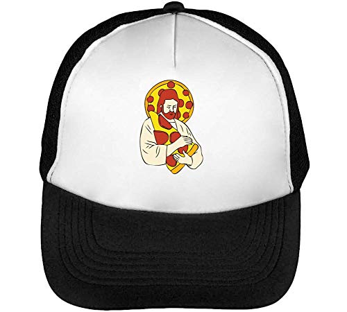 Negro Blanco Beisbol Loves Hombre Snapback Pizza Jesus Gorras d6wO0qY0X