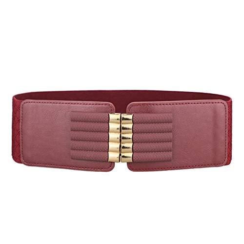 Women Elastic Wide Vintage Cinch Belt
