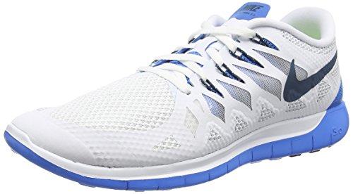Nike Herren Free Trainer 5.0 V6 Trainingsschuh Weiß / Spectre Blue-Foto Blau-reines Platin