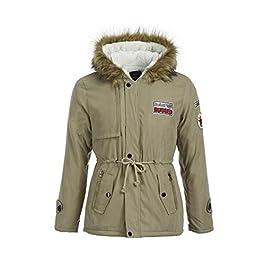 Men's Winter Warm Thicken Outerwear Fleece Coat with Fur Hood Jackets