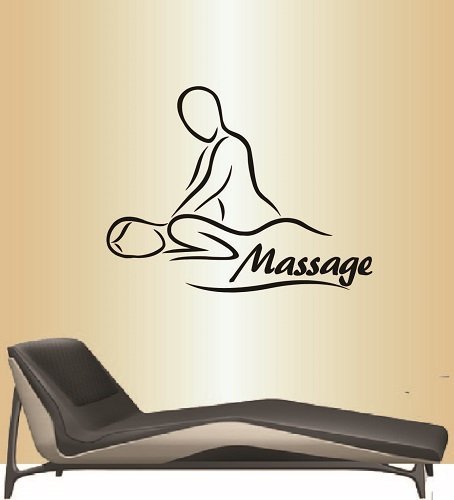 In-Style Decals Wall Vinyl Decal Home Decor Art Sticker Massage Spa Salon Therapy Girl Woman People Relax Removable Stylish Mural Unique Design For Any Room 214 by In-Style Decals