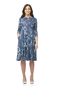 Esteez Women's Swing Dress – Modest - Fit and Flare - Pockets - JUDEE