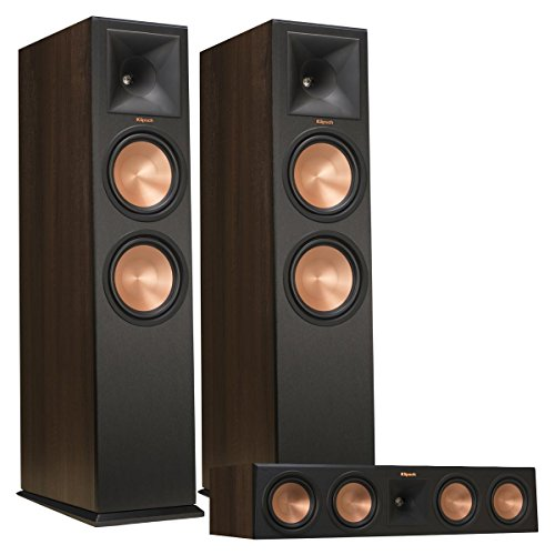 Klipsch RP-280F Reference Premiere Floorstanding Speaker Pair with RP-450C Reference Premiere Center Channel Speaker (Walnut)