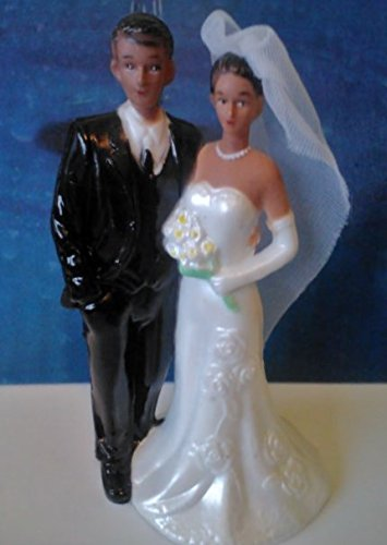 Bride And Groom, Brown Skin, Plastic, 5