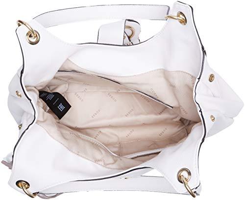 cm pour porté L L L Guess femmes blanc H Dixie blanc 5 40x36x15 épaule Sac blanc x qCT8R