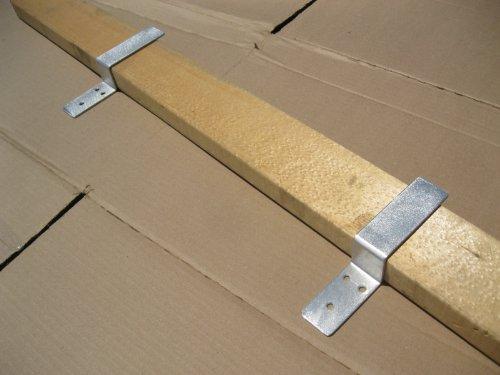 Drop Open Bar Security Door Lock Brackets Fits 2x4 Boards