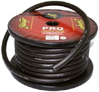 16 Foot Cut of Stinger Black Pro Series 0 Gauge 1//0 Copper Power Wire SPW10TB