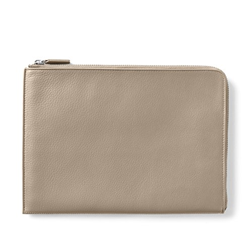 Zip Clutch - Full Grain Leather Leather - Ginger (gray) by Leatherology