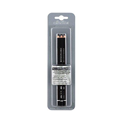 Cretacolor Nero Pencil 3Pk X-Soft Med, Black