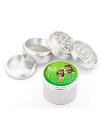 Acquisition 420 Smoking Design Medium Size 4pcs Aluminum Herbal or Tobacco Grinder #60314-013 occupation