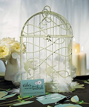 Wedding Star 9117 Modern Decorative Birdcage with Birds in Flight