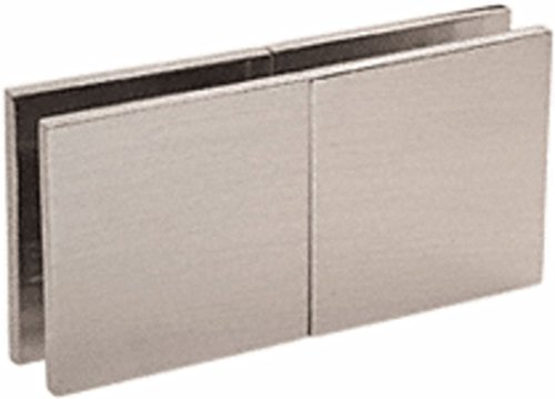 C.R. LAURENCE SGC188BN CRL Brushed Nickel Square 180 Degree Glass-to-Glass Movable Transom Clamp