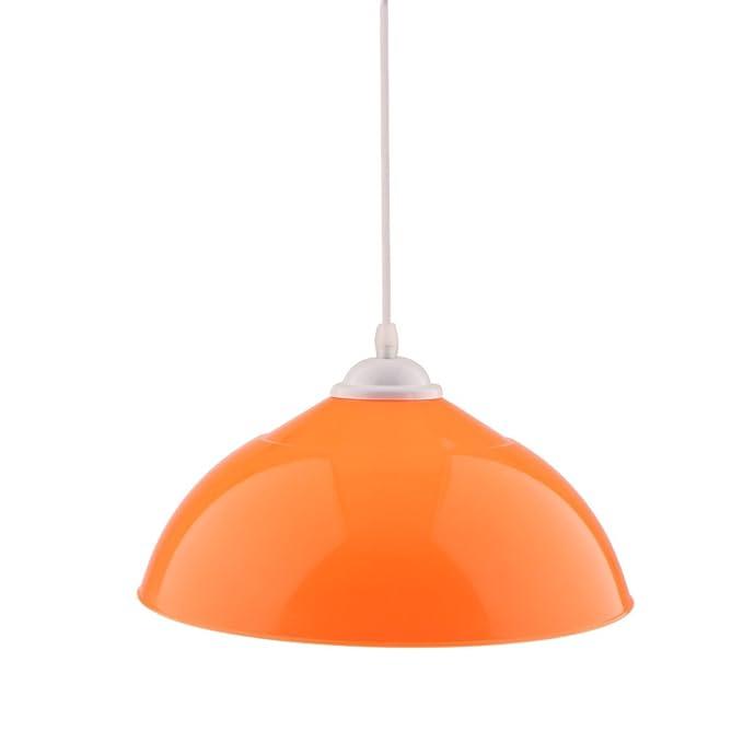 MagiDeal 110-220V E27 Halbkreis f/örmig H/ängende Lampenschirm Deckenleuchte Wei/ß