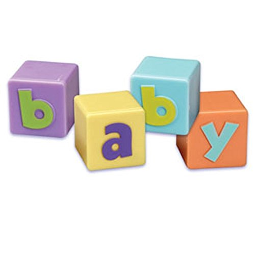1-Pack Oasis Supply BC B-86 4-Piece Baby Blocks Topper Set