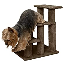 FurHaven Pet Stairs | Steady Paws 3-Step Pet Stairs, Brown