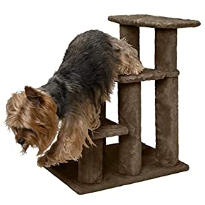 FurHaven Pet Stairs | Steady Paws 3-Step Pet Stairs, Brown 90