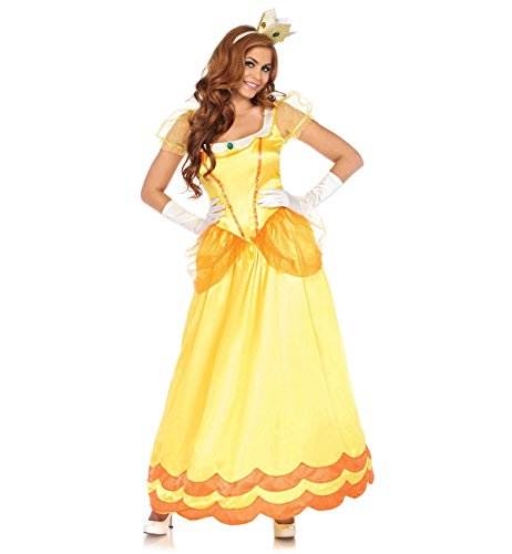 Leg Avenue Women's Yellow Sunflower Princess Costume, Orange, Medium