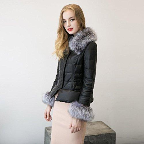 Koly _Giù Cotton Parka collo di pelliccia giacca