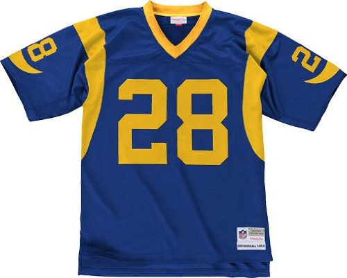 Louis Rams Throwback Blue Jersey - Mitchell & Ness Marshall Faulk 1999 Replica Jersey St. Louis Rams Blue Medium