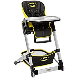 KidsEmbrace Batman Convertible High Chair, DC Comics Deluxe Adjustable High Chair, Black