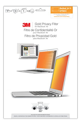 Video Screens Screen Protectors Computer Accessories Parts - 1438692 - 3m Gpfma13 Privacy Filter; Gold/black; For Use With Laptop And 13 In Macbook Air 1438692