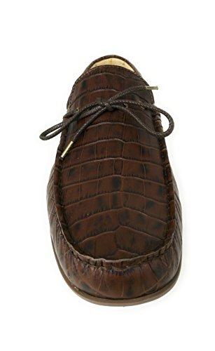 para Zapatos Náuticos Hombre Piel Hombre Zerimar Hombre Marron Náuticos Tallas de Hombre Grandes 46 50 Náuticos Verano Mocasines Bfdn8qtg