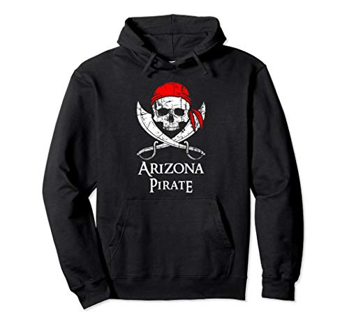 Arizona Pirate Jolly Roger State Pride Hoodie Pullover -