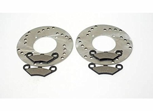 1995 1996 1997 Polaris 400 L Scrambler 4X4 Front Brake Pads And Brake Rotors CycleATV