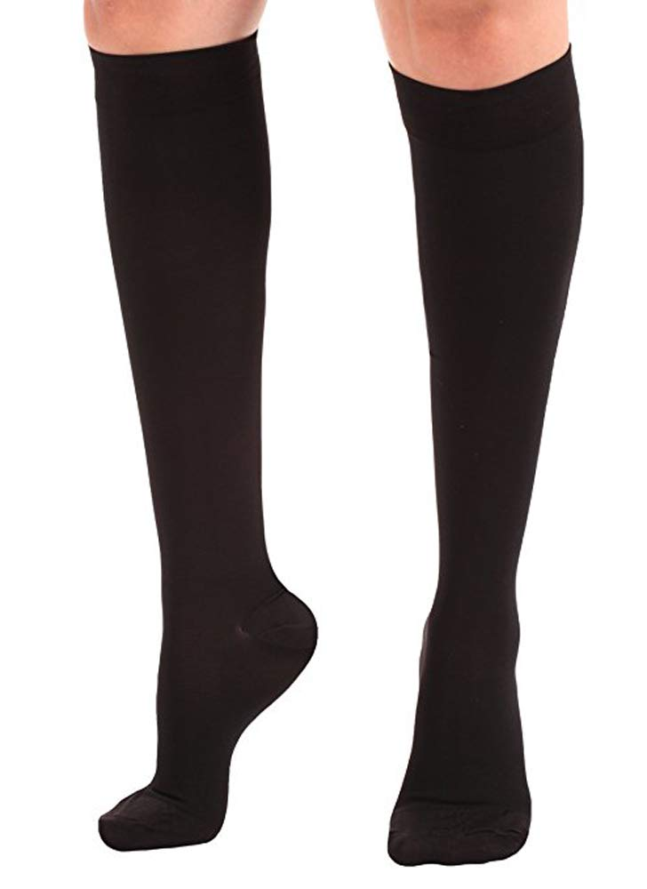 373b19511b7 Amazon.com  Tektrum (1 pair) Knee High Firm Graduated Compression Socks  Stockings 23-32mmHg for Men Women - for Nurses