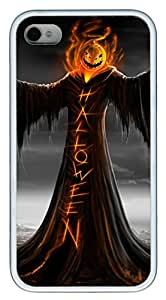 iPhone 4 4s Cases & Covers - Halloween Horror Pumpkin Man TPU Custom Soft Case Cover Protector for iPhone 4 4s - White