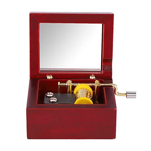 Music Box, Wooden Case Mechanical Hand Crank Musical Box for Quality Decorative Keepsake