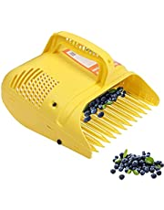 Blueberry Rake Berry Picker, Plastic Fruit Picker Tool Rake Comb with Soft Touch Handle and Reinforced Coated Teeth, Blueberry Rake Scoop Harvest Basket for Blueberry Huckleberry Cranberries