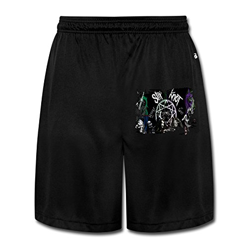 (ZZYY Mens Casual Slipk Not Masks Skull Short Sweatpants Hip Hop Black Size)