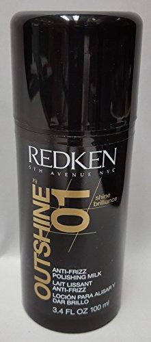 Redken Outshine 01, anti-frizz polishing milk styling hair styling serum, 3.4 Ounce -  AmazonUs/J80V1, VC-192-84486-17864-A2-CA