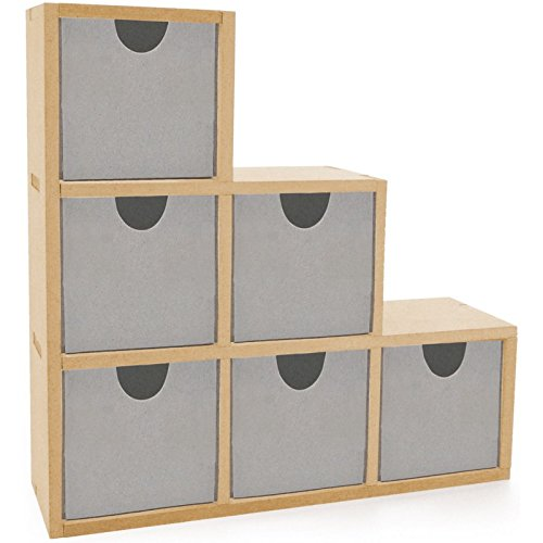 Kaisercraft Beyond The Page MDF Bookend Drawers, 6 ()