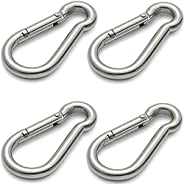 Stainless Steel Spring Snap Hook, Heavy Duty Hook Clips for Gym, Traveling in and Outdoor Rope Connector