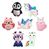 WATINC Random 4 Pcs Jumbo Animal Squishy Sweet Scented Vent Charms Slow Rising squishies Kawaii Kid Toy , Lovely Stress Relief Toy, Animals Gift Fun Large
