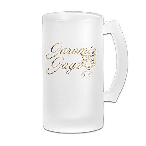 [ZZYY Personalized Lover Beer Mug JaJagr Tiger NO.68 Print Pub Cool 16-Ounce Mug White] (Hockey Stanley Cup Costume)
