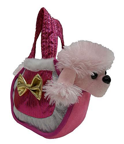 Goffa Fancy Pals Plush Pretty Poodle Pink Pet Purse